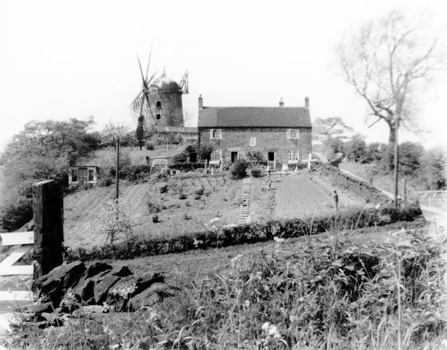 Heage windmill and windmill house