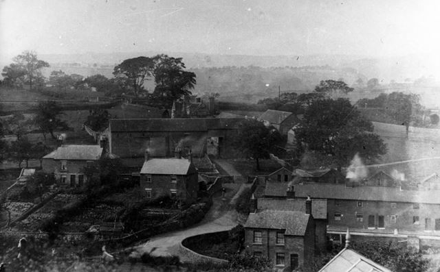 View looking down on Hammersmith towards Padley Hall