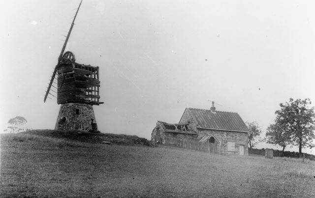 Fritchley windmill and house c1880