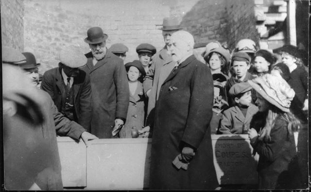 Laying the foundation stone of Ripley Hospital 1911