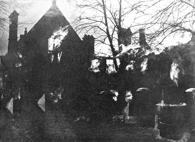 Fire at Riddings National Schools, Riddings, 1905