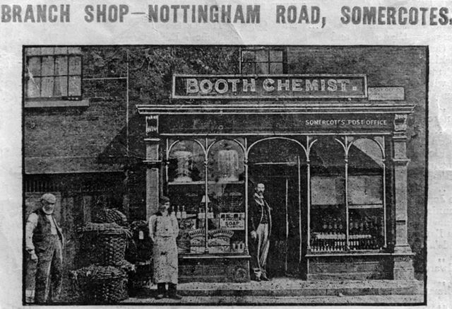 Booth's Chemists, Nottingham Road, Somercotes, late 19th century