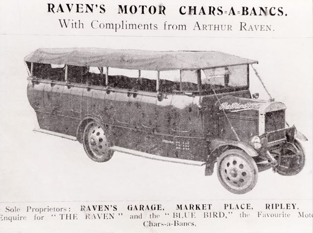 Advertisement for Raven's Chars-a-bancs