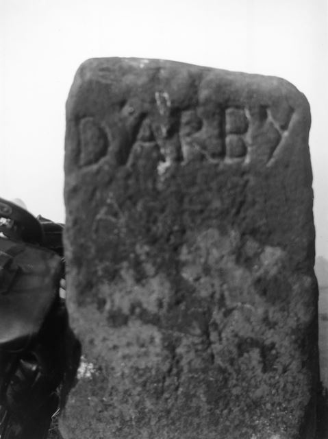 The Old 'Darby' Milestone, Alport by Youlgreave