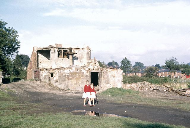 Demolition of Middle Mill, Duffield, 1961