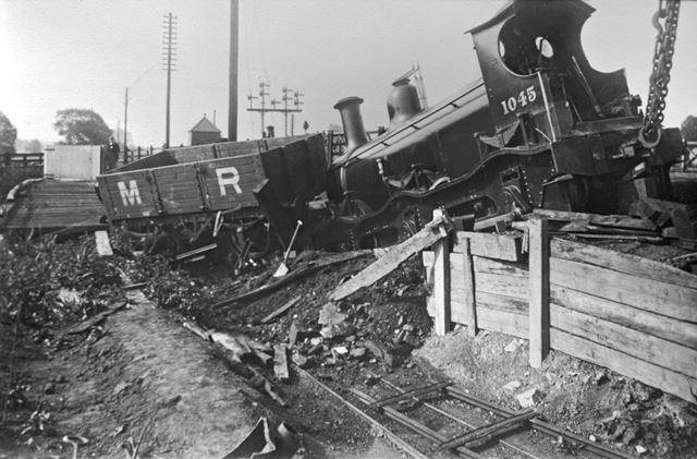 Railway accident at Breadsall Crossing, Breadsall, 1903