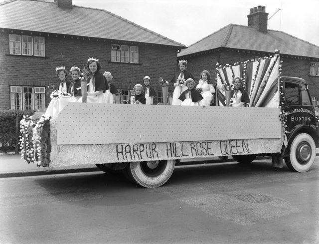 Well dressing -Harpur Hill Rose Queen and Retinue