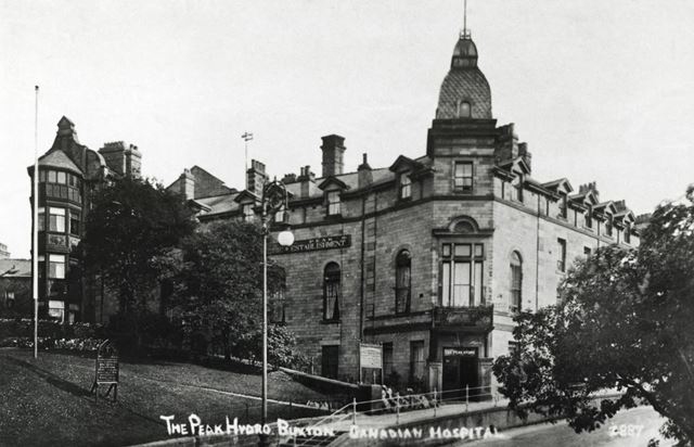 The Peak Hydro Hotel in use as a hospital, Buxton, 1914-18