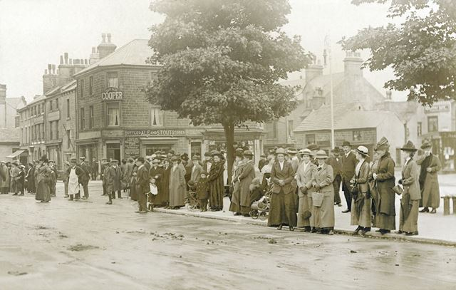 Onlookers in the Market Place, Buxton