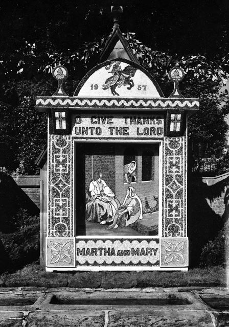 Well Dressing, Wormhill, 1957