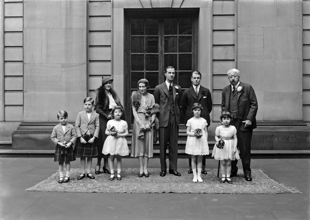 Wedding of Lord Charles Cavendish to Miss Adele Astaire, with the 9th Duke and Duchess of Devonshire