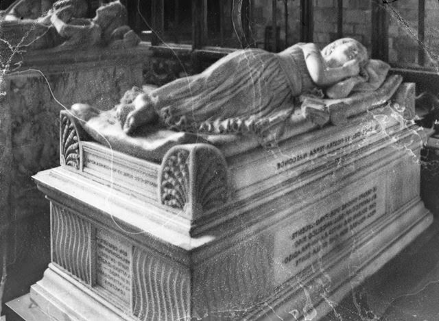 Penelope Boothby Tomb, St. Oswaolds Church, Mayfield Road, Ashbourne, c 1930s