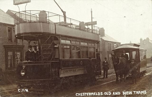 Chesterfield's old and new trams