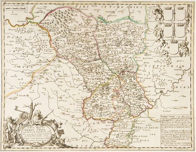 'A New Map of Darbyshire', 1712