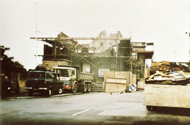 Old Court House During Demolition, Chesterfield, c 1972