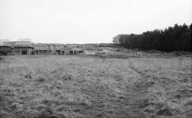 Construction of new houses, Somersall Lane, Somersall, Chestefield, 1991