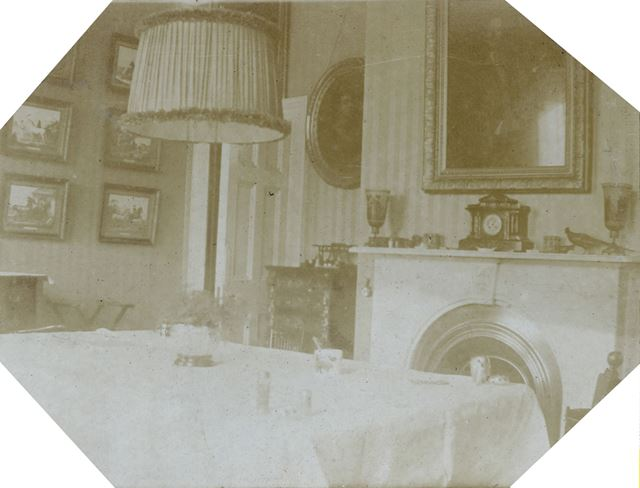Dining room in Sutton Rock House, Sutton Scarsdale, c 1910