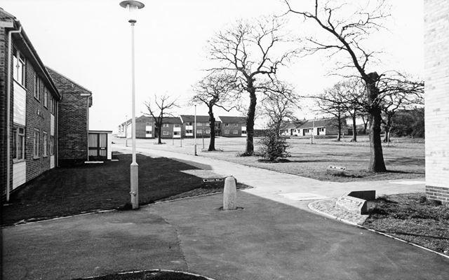 The Pingles from Cheedale Walk and Brockwell Walk, Loundsley Green, Chesterfield, 1972