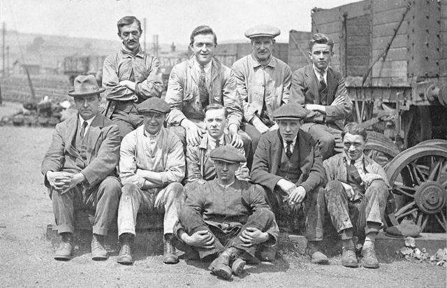 Employees at Staveley works