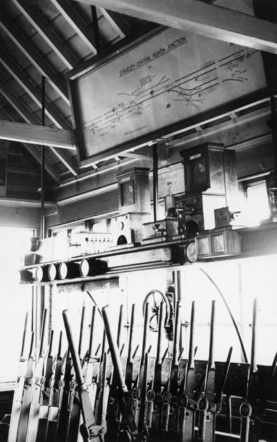 Interior of the North Junction Railway Signal Box