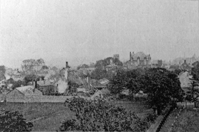 View from Waterworks Tower, Ripley, c 1900?