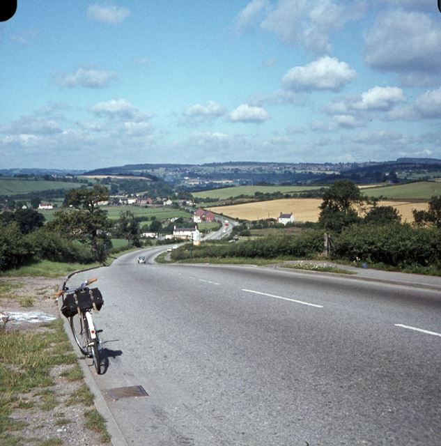 View from the Top of Hartshay Hill, Ripley, c 1960s?
