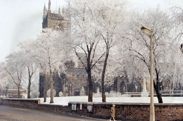 St Mary's Church in winter