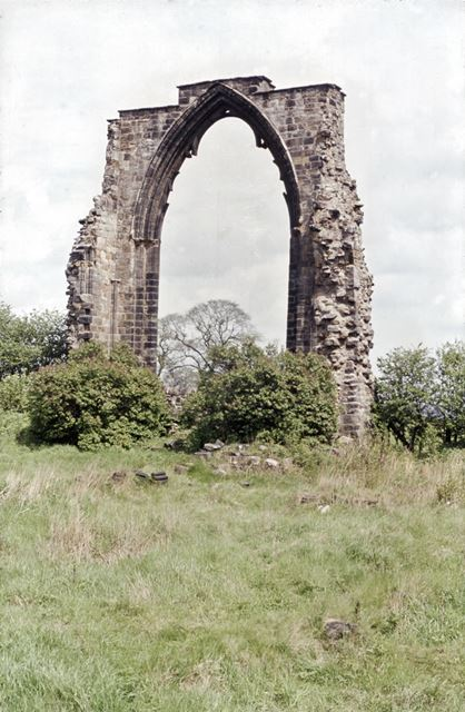 Dale Abbey Ruins, east window of the chancel, 1963