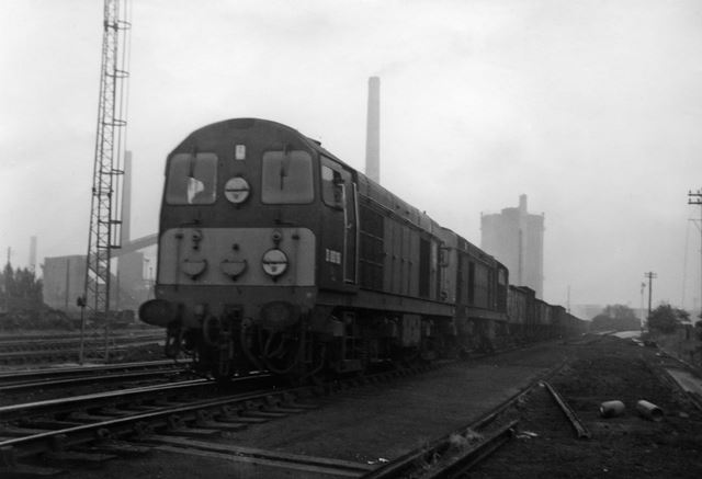 Last Train out of Fork Junction to Colwick, Stanton Ironworks, c 1968
