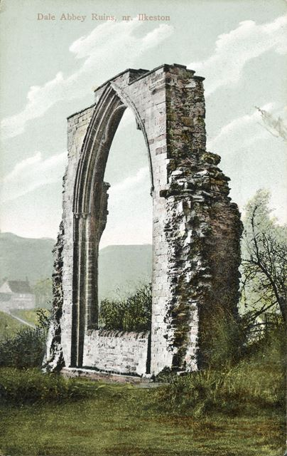 The ruins of Dale Abbey arch looking north east, Dale, c 1901-05?