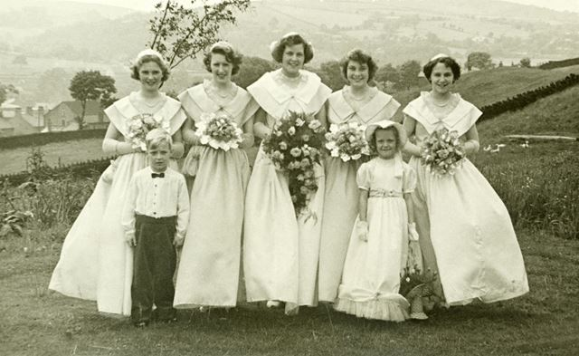 Whaley Bridge Rose Queen and attendants