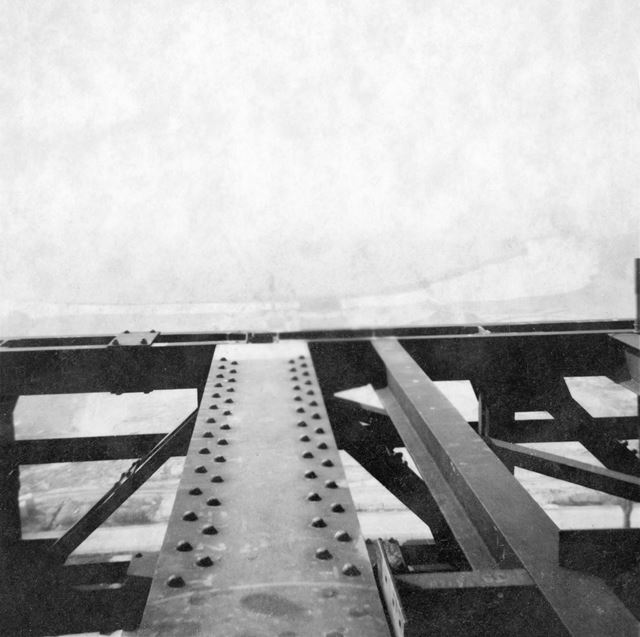Willington Power Station, the top of construction girders