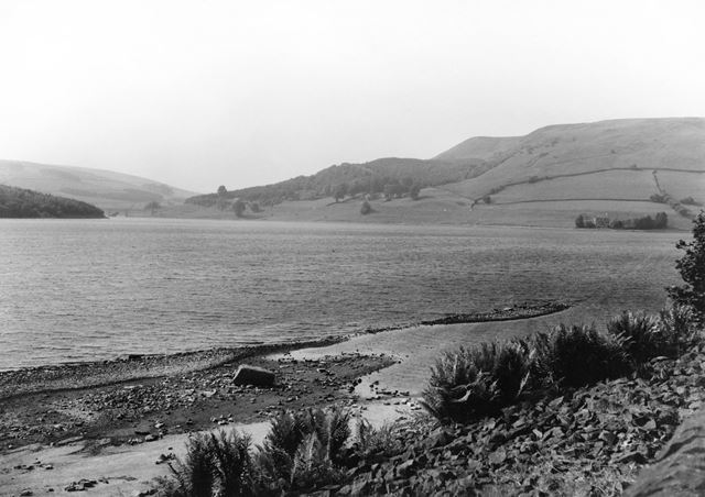 Ladybower Reservoir Looking From Bamford to Glossop, 1970