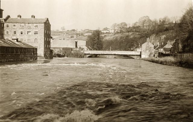 Mill and bridges across the River