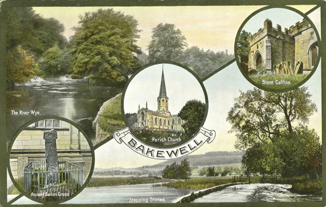 Composite - The River Wye, Stone Coffins, Ancient Saxon Cross, Stepping Stones and Parish Church