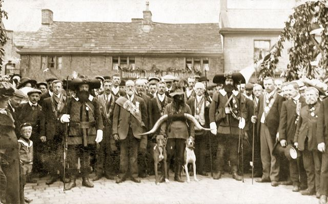 Royal Antediluvian Order of Buffaloes or Ancient Order of Foresters?, Hayfield, c 1900