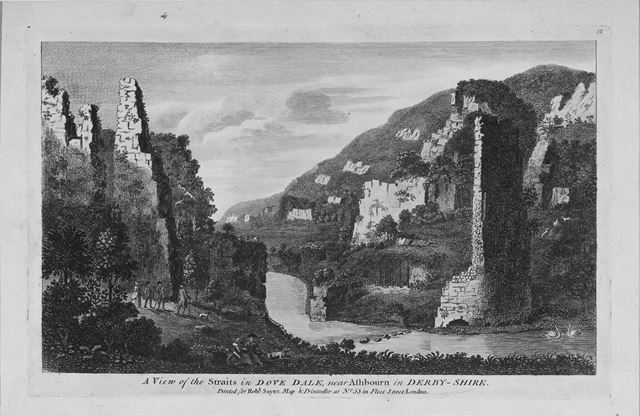 'A view of the Straits, Dovedale'
