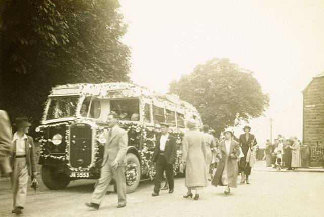 Carnival procession -decorated bus