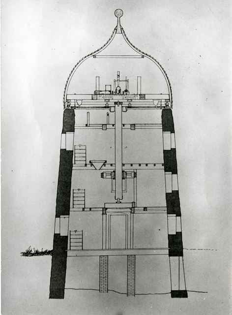 Drawing of cross-section, Heage Windmill