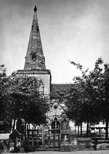 The entrance to the church in Weston-on-Trent