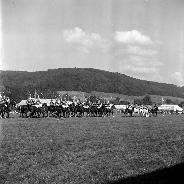 Household Cavalry at Bakewell Show 1958