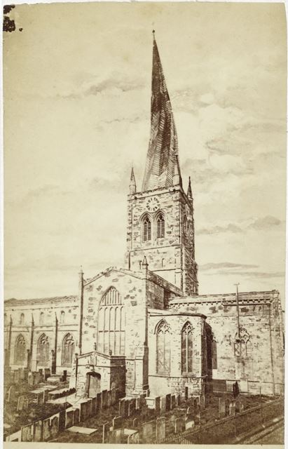 Parish Church of Our Lady and All Saints, Chesterfield, c 1900s