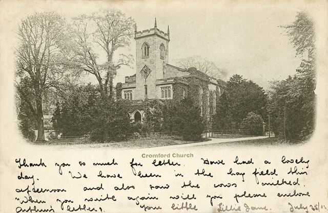 St Mary's Church, off Mill Road, Cromford, 1902