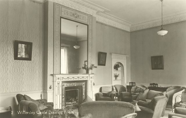 The Drawing Room, Willersley Castle, Cromford, c 1930s?