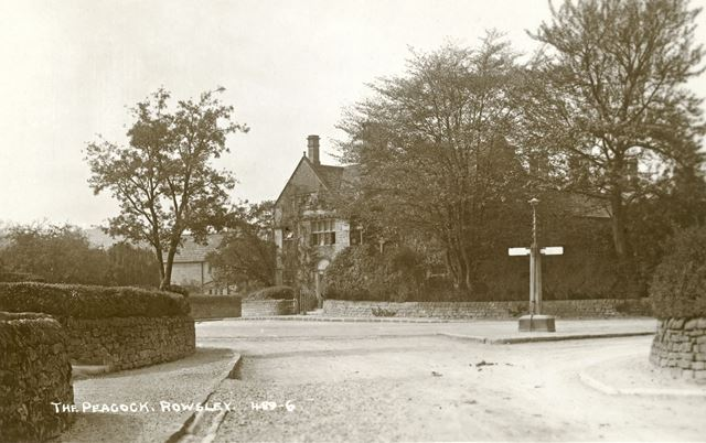 Peacock Hotel from the junction of Dale Road North (A6) and School Lane, Rowsley, c early 1900s?