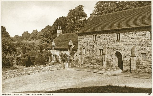 Cottage and Old Stables, Haddon Hall, Bakewell, c 1910s