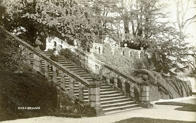 Steps in the Gardens at Haddon Hall, Bakewell, c 1900s
