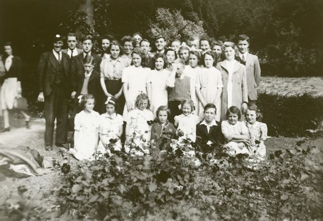 Church Lads and Girls Brigade, St. Michael's Rectory, South Normanton, c 1940s