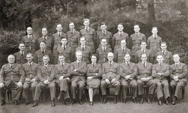 Group of staff from RAF Hospital at Rockside Hydro, Cavendish Road, Matlock, c 1941-42