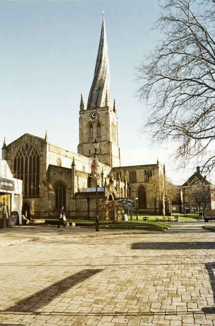 St Mary and All Saints Church (the Crooked Spire), Church Way, Chesterfield, c 2000